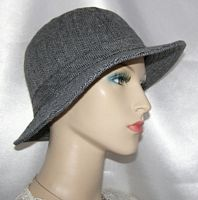 Gray Pin Stripe Hat
