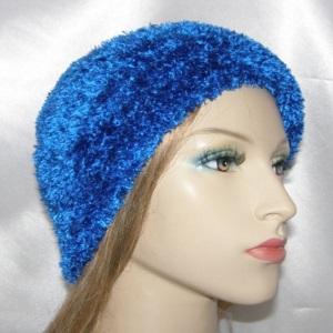 Royal Blue Chenille Frik Kippah