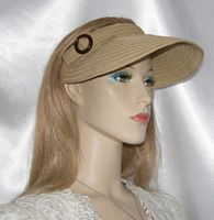Tan Visor Hat