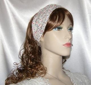 Ivory Cotton Orange Floral Design Headband