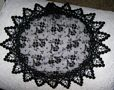 Black Chantilly Lace Victorian Grape Design Buchari Kippah