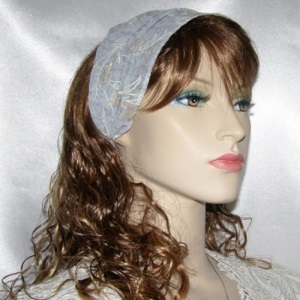 Periwinkle Blue Design Sheer Headband