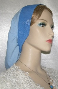Two-Tone Blue Band Snood