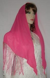 Bright Pink Silk Tiechel
