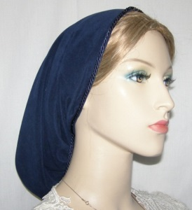 Navy Suede Fabric Snood