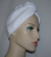 White Microfiber Hair Towel