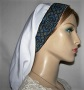 White Poly Blend Jacquard Band Snood