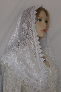 White Floral Lace White Surround Venise Trim