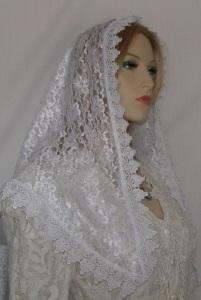 White Floral Lace White Surround Venise Trim