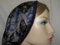 Avigayil Blue Tan Paisley Design Head Wrap