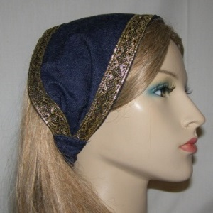Denim Cotton Headband Headcoverings