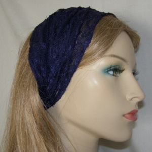 Navy ReEmbroidery Headband