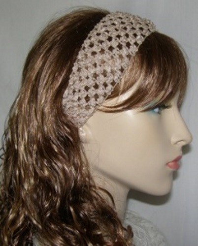 Tan Poly Design Headband