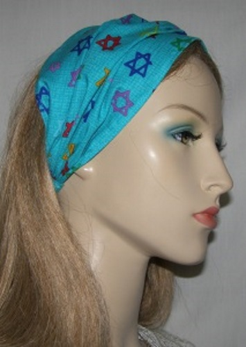Aqua Magen David Headband