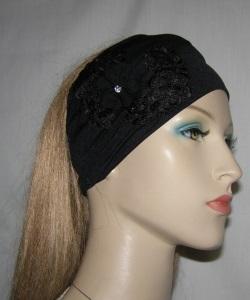 Black Pleated Headband