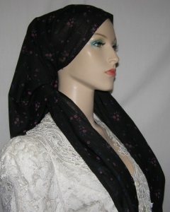 Black Pink Floral Miptachat Headcovering