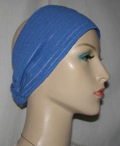 blue microfiber headband