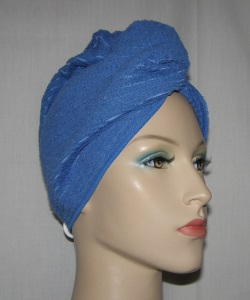 Blue Stripe Microfiber Hair Wrap Towel
