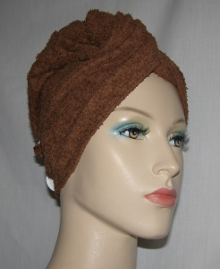 Brown Terry Cloth Hair Wrap Towel