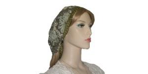 Olive Floral Design Kerchief