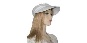 White Eyelet Cotton Hat