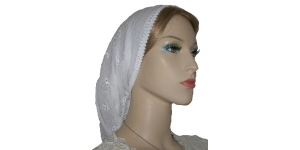 White Gauze Cotton Snood