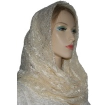 Ivory Lace Cowl Infinity Snood