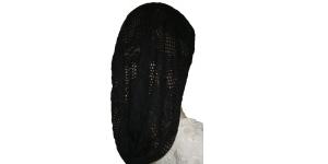 Black Crochet Snood