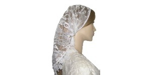 Longer Length White Floral Lace Mimkhatah