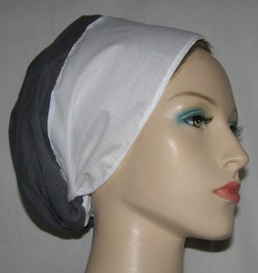 Gray Cotton Shterntichel Scarf
