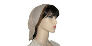 Tan Gauze Cotton Kerchief