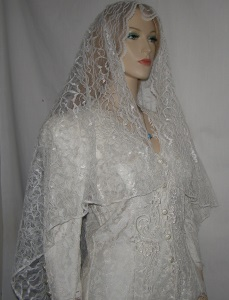 Ivory Waltz Length Bridal Veil