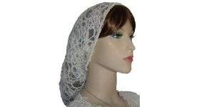 Ivory Re-embroidered Lace Snood