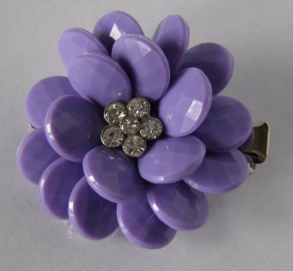Lilac Jeweled Tichel Hair Clip