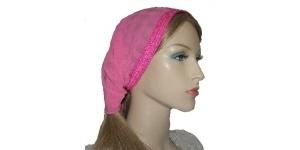 Milka Pink Satin Kerchief
