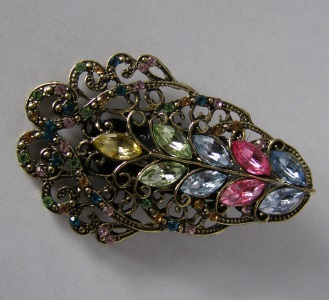 Pink & Blue Jeweled Tichel Hair Clip