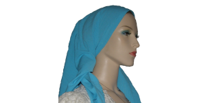 Turquoise Rayon Scarf