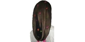 Black Floral Sheer Snood