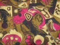 African Gold Yellow Rose Design Fabric Swatch
