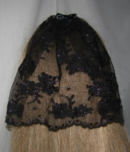 Black Scalloped Floral Lace Bar Mitzvah Covering / Bat Mitzvah Headcovering