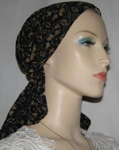 Black & Gold Headband Style Headcovering