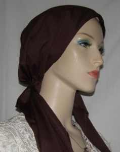 Brown Pre Tied Snood