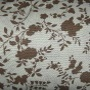 Brown Taupe Floral Fabric Swatch
