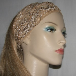 Browns Tans Stretcy Head Wrap