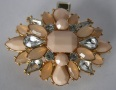 Peach Sunburst Design Beaded Tichel Clip
