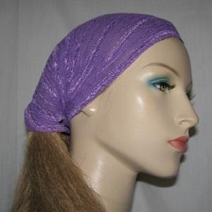 Purple Stretcy Head Wrap