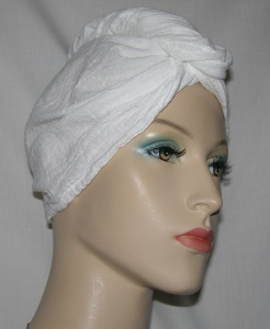 White Cotton Hair Wrap Towel