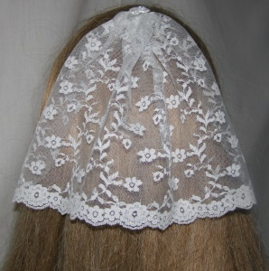 White Floral Lace Bar Mitzvah Covering / Bat Mitzvah Headcovering