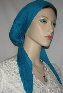 Turquoise Pre Tied Snood