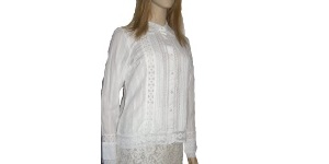 White Cotton Modest Blouse